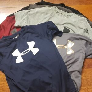 6 Under Armour youth heat gear t-shirts